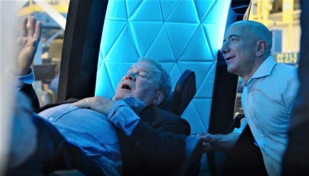 William Shatner and Jeff Bezos